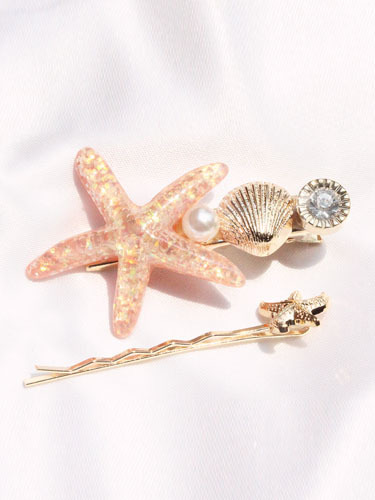 Bling sea hair pins set / 2pins