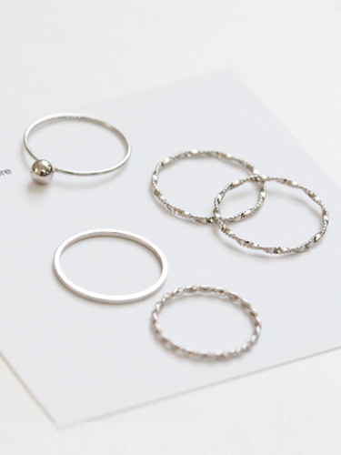 Simple ball rings set