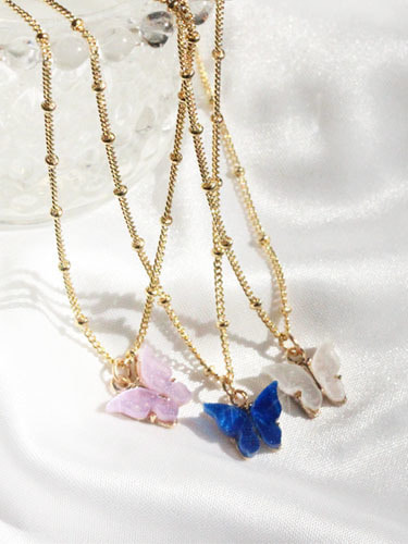 Dream in butterfly necklace