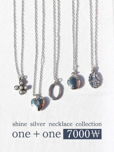 ♥1+1 7000♥ Shine silver necklace collection